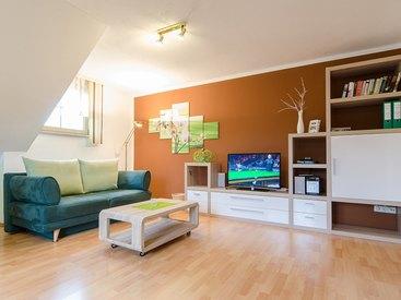 Ferienwohnung Grün Wohnzimmer