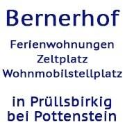 Logo Bernerhof - Ferienwohnungen, Zeltplatz, Wohnmobilstellplätze in Pottenstein
