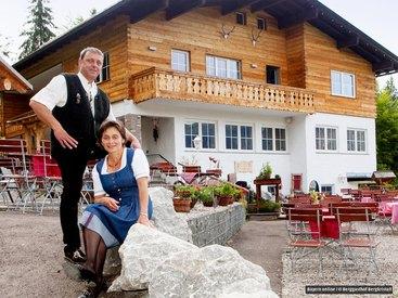Klara und Markus Dreher freuen sich auf Ihren Besuch im Berggasthof Bergkristall
