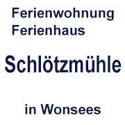 Logo Ferienwohnung - Ferienhaus Schlötzmühle