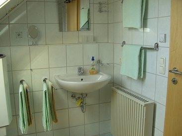 Bad der Ferienwohnung Schultheiß