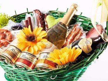 Geschenkkorb mit fränkischen Spezialitäten aus Nürnberg