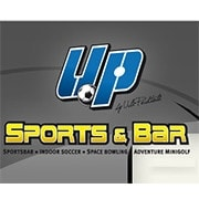 Logo UP-Sports und Bar - Indoor Soccer - Adventure Minigolf - Space Bowling