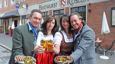 Familie Förster v.l.n.r.: Metzgermeister Michael Förster, Luise Förster, Carmen Förster und Gastronom Thomas Förster