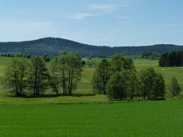 Bad Steben Ferienwohnung Heger Blick zum Spitzberg