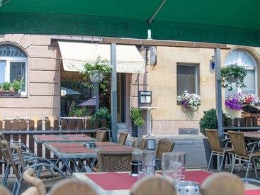 Blick vom Biergarten - Pizzeria Romantica