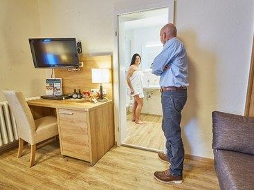 Zimmerimpressionen im  Hotel Goldner Stern in Muggendorf in der Fränkischen Schweiz