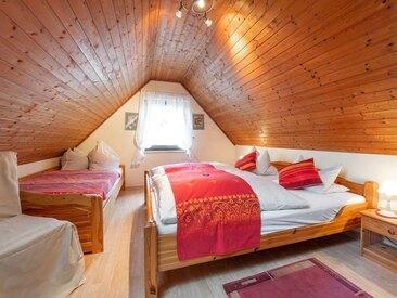 Das gemütliche Schlafzimmer im Ferienhaus