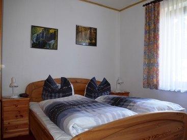Schlafzimmer in unserer Ferienwohnung in Fichtelberg