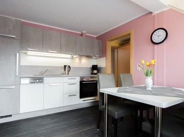Küche in der Ferienwohnung 3 im Fritzerhof in Kleingesee bei Gößweinstein in der Fränkischen Schweiz