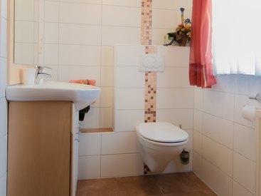 Fewo 1 Badezimmer im Fritzerhof in Kleingesee bei Gößweinstein in der Fränkischen Schweiz