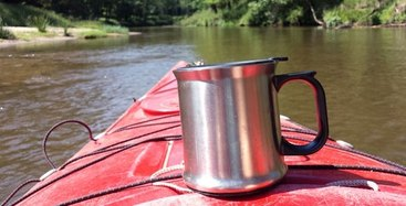 Pause auf dem Fluss