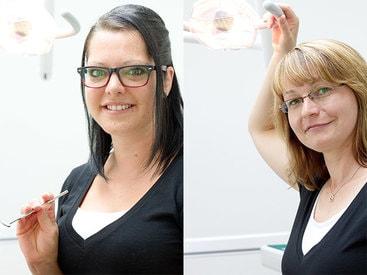 Fachangestellte: Nicole Freier und Marlen Spengler