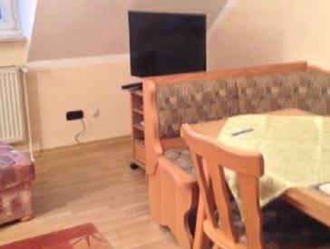 Wohnzimmer mit neuem Fernseher