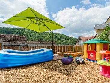Der spannende Spielplatz für die Kinder ihrer Ferienwohnung in Muggendorf