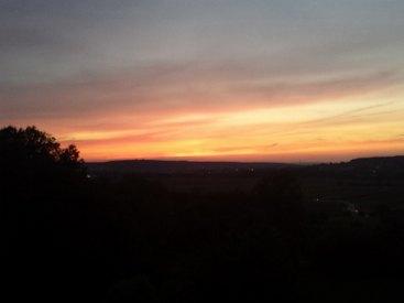 Sonnenuntergang in Pinzberg