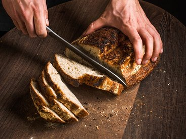 Frisches, selbstgebackenes Brot