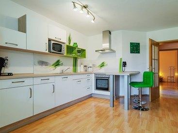 Ferienwohnung Weiß Küche