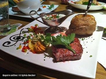 ...und natürlich auch leckere Steaks