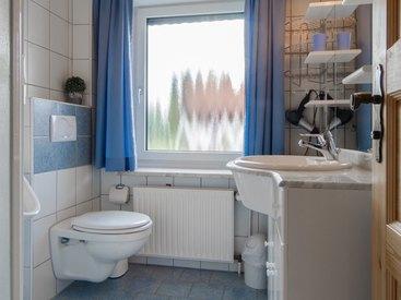 Badezimmer in der Ferienwohnung 2 im Fritzerhof in Kleingesee bei Gößweinstein in der Fränkischen Schweiz