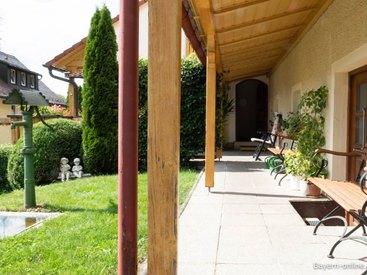 Willkommen in unserer Ferienwohnung in Gößweinstein  - Blick in unserem Garten
