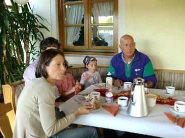 Frühstück im Freisitz