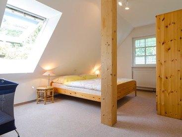 Schlafzimmer der Ferienwohnung in der Fränkischen Schweiz