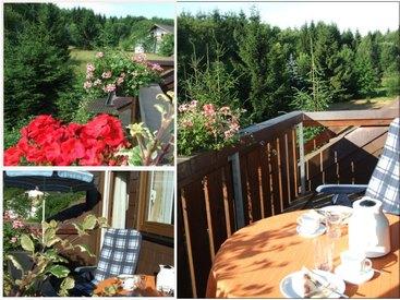 Bad Steben Ferienwohnungen Heger - Balkon zu jeder Wohnung