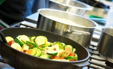 frisch zubereitete Gerichte