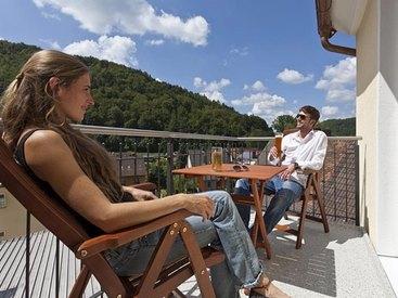 Balkon im  Hotel Goldner Stern in Muggendorf in der Fränkischen Schweiz