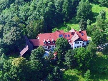 Der Schlossberghof von oben