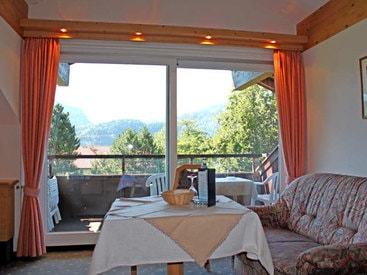 Grosszügiger Balkon mit Panoramablick