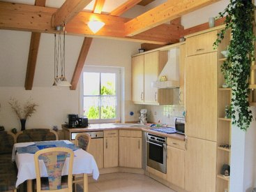 Küche unserer Galerie Ferienwohnung