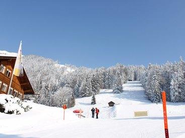 Einkehrschwung im Cafe Breitenberg bei der Skiabfahrt vom Nebelhorn!