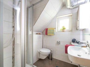 Das moderne Bad im Ferienhaus-Ferienwohnung Helga Trautner