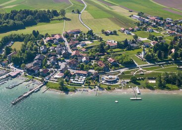Gästehaus Grünäugl am See aus der Luft