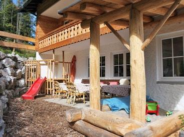 Der Spielplatz für unsere kleinen Gäste im Berggasthof Bergkristall