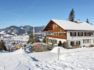 Herzlich willkommen im Cafe Breitenberg bei Oberstdorf im Allgäu - im Winter!