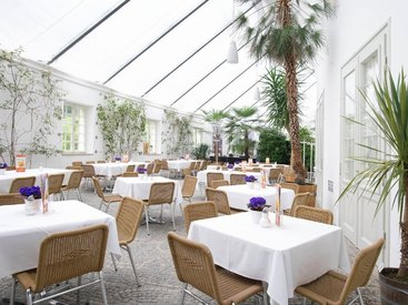 Cafe Orangerie in der Eremitage in Bayreuth: ideal für Events