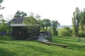 Unser Holzhaus im Garten