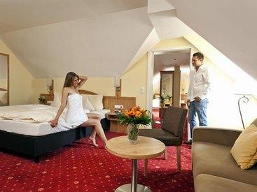 Familienzimmer im  Hotel Goldner Stern in Muggendorf in der Fränkischen Schweiz