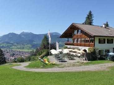 Herzlich willkommen im Cafe Breitenberg bei Oberstdorf im Allgäu - im Sommer!