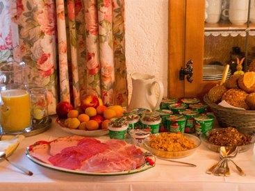 Urlaub auf dem Bauernhof Homerhof Frühstücksbuffet