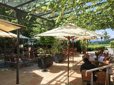Ambiente in unserem italienischen Restaurant in Bayreuth  - unsere Terrasse