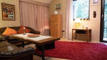 Wohnzimmer der Ferienwohnung in Fichtelberg