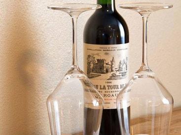 Ein ruhiger Abend bei einem Glas Wein
