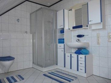 Helles Bad mit Dusche und WC