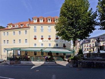 Außenansicht Hotel Goldner Stern in Muggendorf in der Fränkischen Schweiz