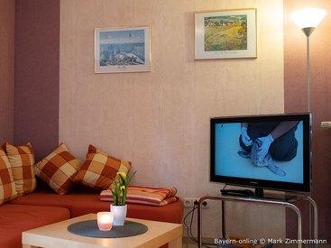 Ihr gemütliches Wohnzimmer in Ihrer Feriehwohnung in Waischenfeld