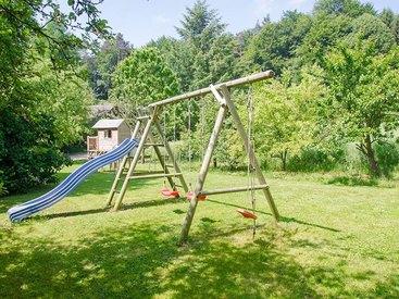 Urlaub mit Kindern - Garten der Ferienwohnung in der Fränkischen Schweiz
